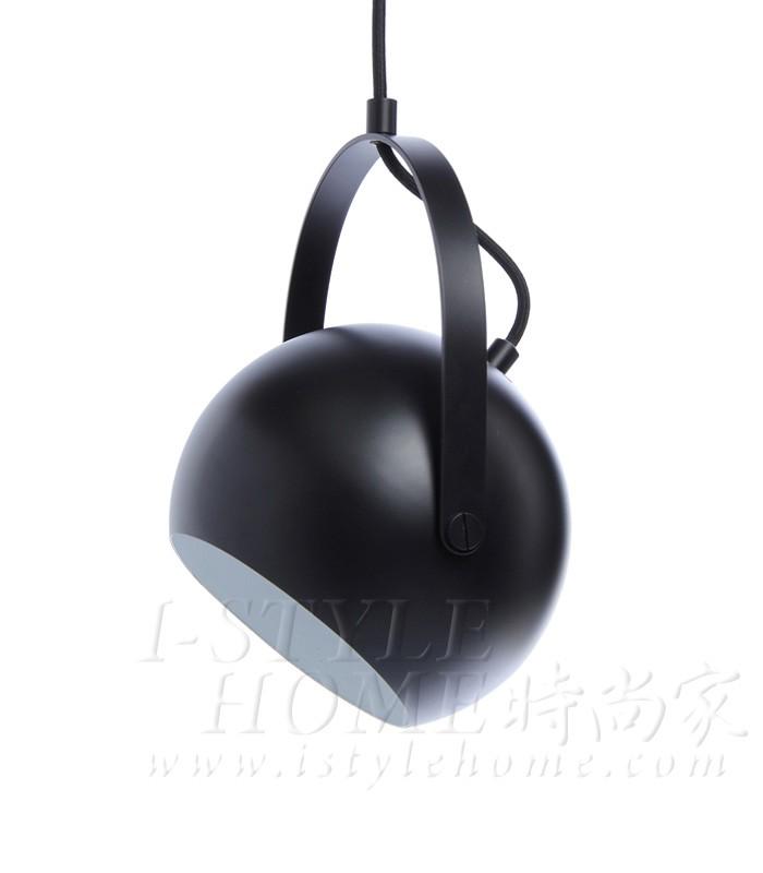 Ball with handle black matt lig100287