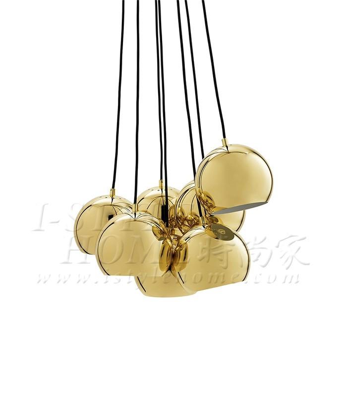 Ball multi brass glossy 18 cm lig100283