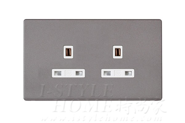 MK 雅韻 系列 神秘黑 socket outlets 插座13A 2位