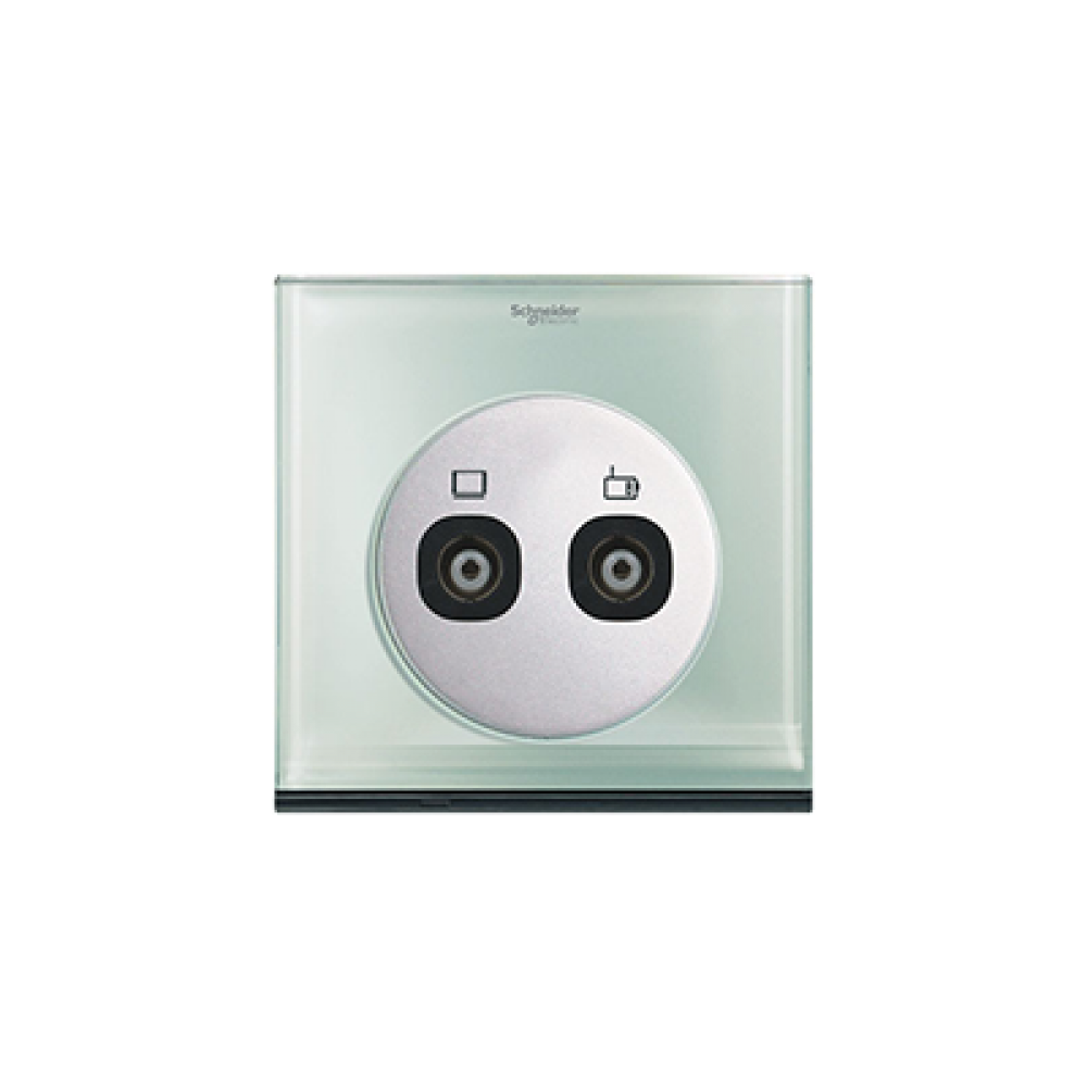 Schneider ULTI Crystal Glass TV and FM Socket swi100107