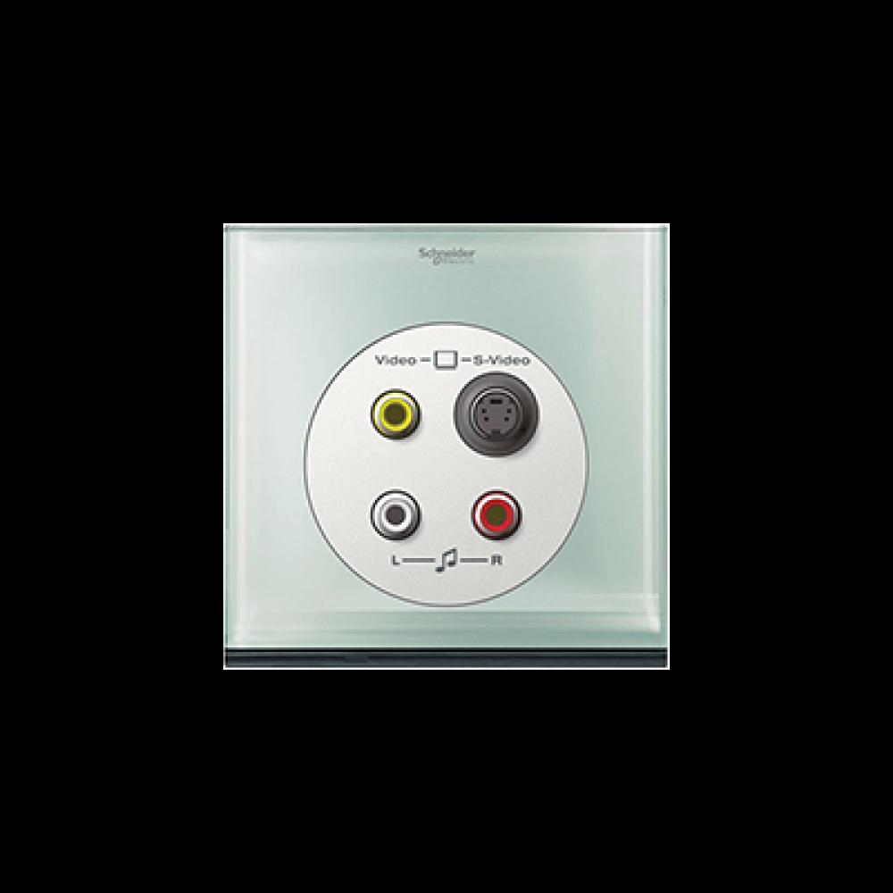Schneider ULTI Crystal Glass S-Video-RCA Socket swi100108