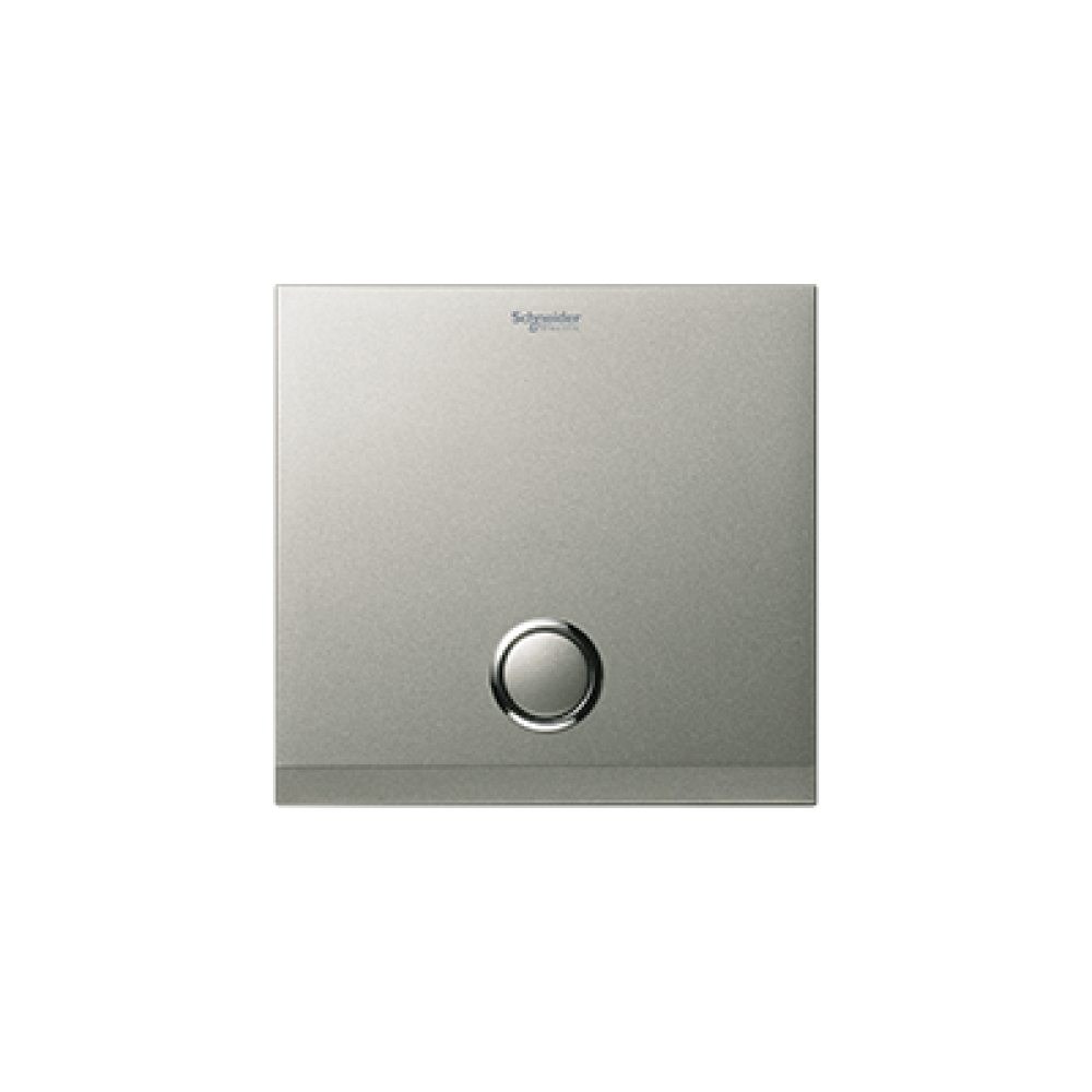 Schneider ULTI Brushed Silver 1 Gang Switch swi100122