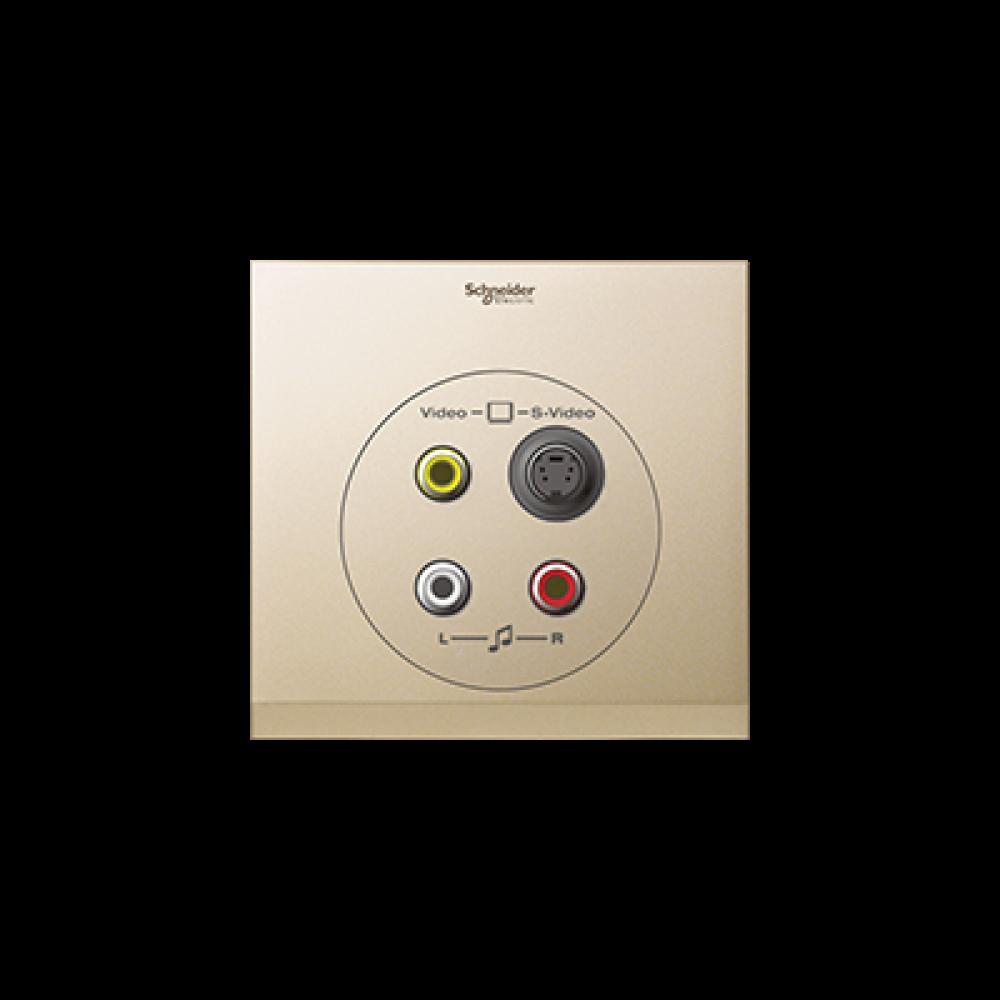 Schneider ULTI Champagne Gold S-Video-RCA Socket swi100118