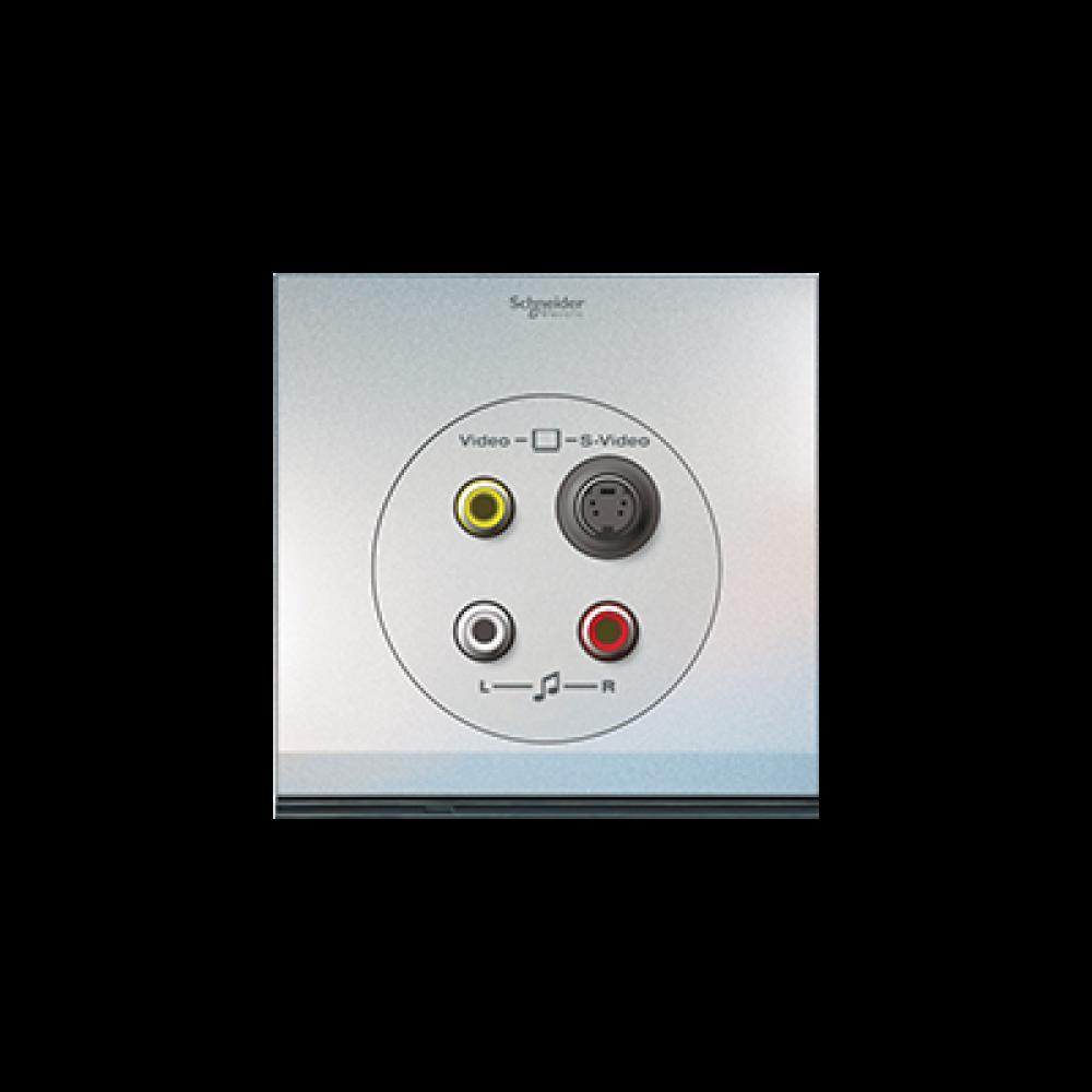 Schneider ULTI Pearl White S-Video-RCA Socket swi100137