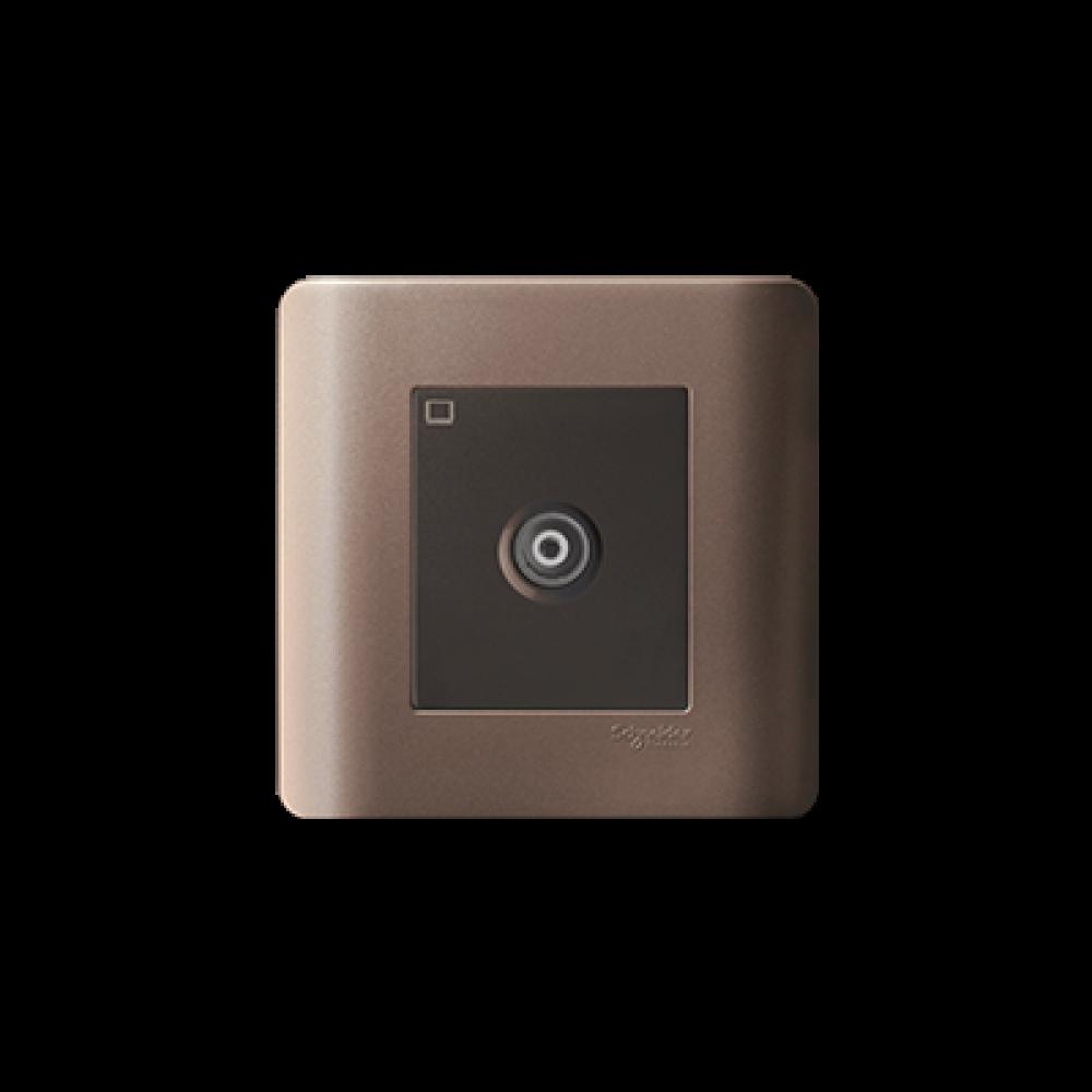 Schneider ZENcelo Silver Brown TV Socket swi100145