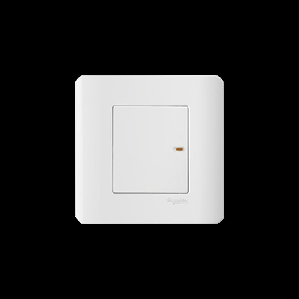 Schneider ZENcelo White 1 Gang Switch swi100151