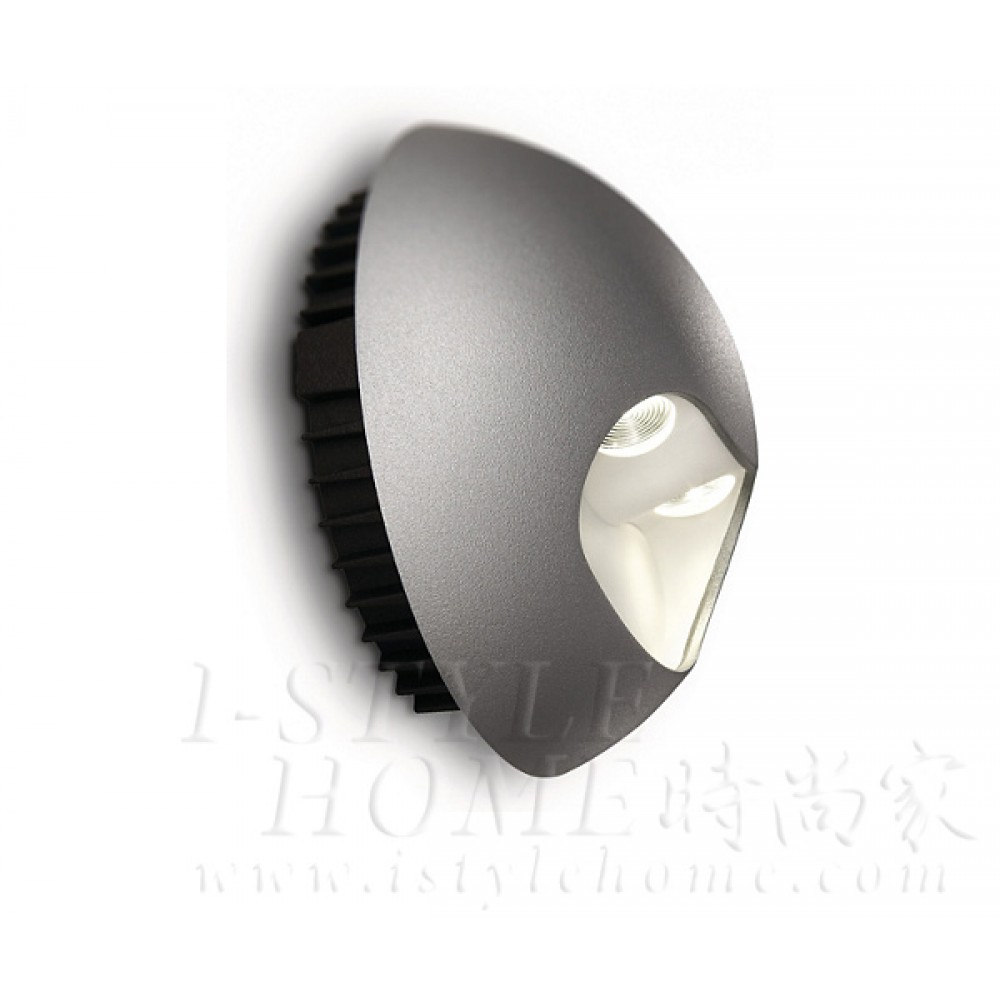 Ledino 69085 40K grey LED Wall light lig100401