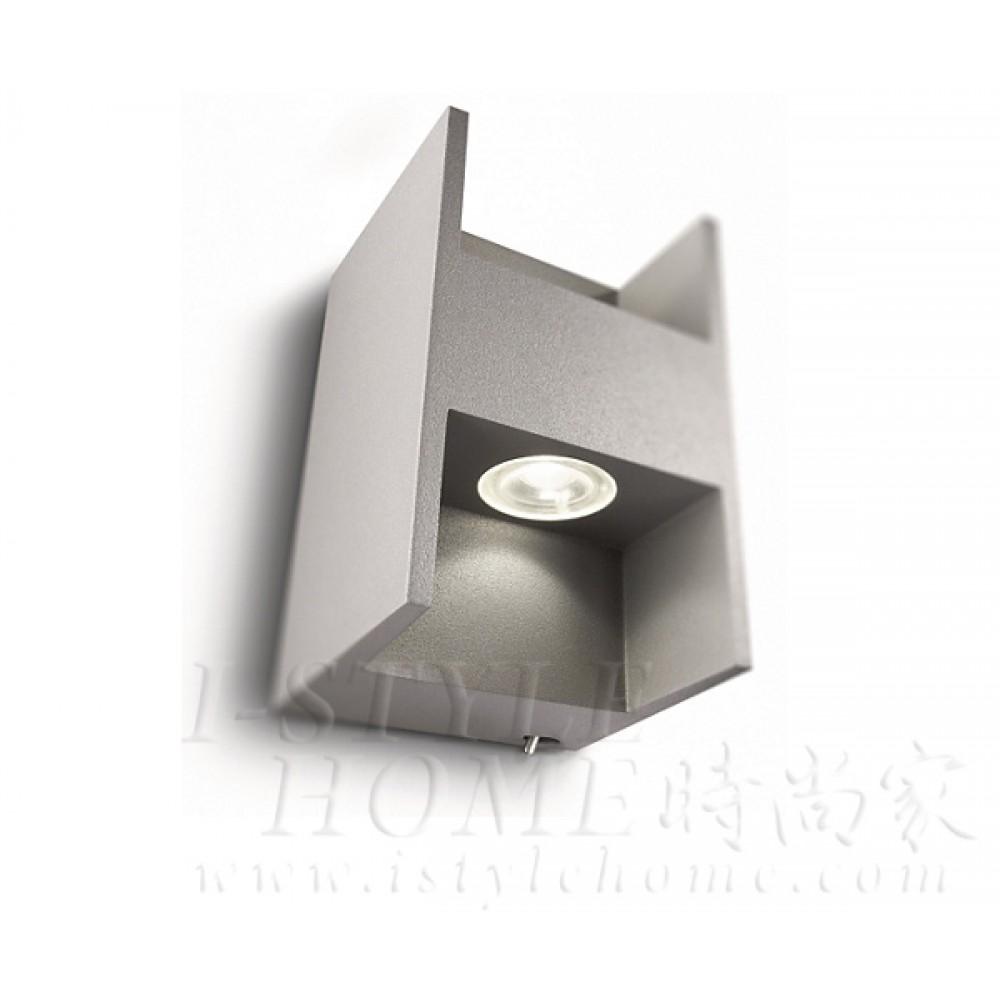 Ledino 69087 40K grey LED Wall light lig100393