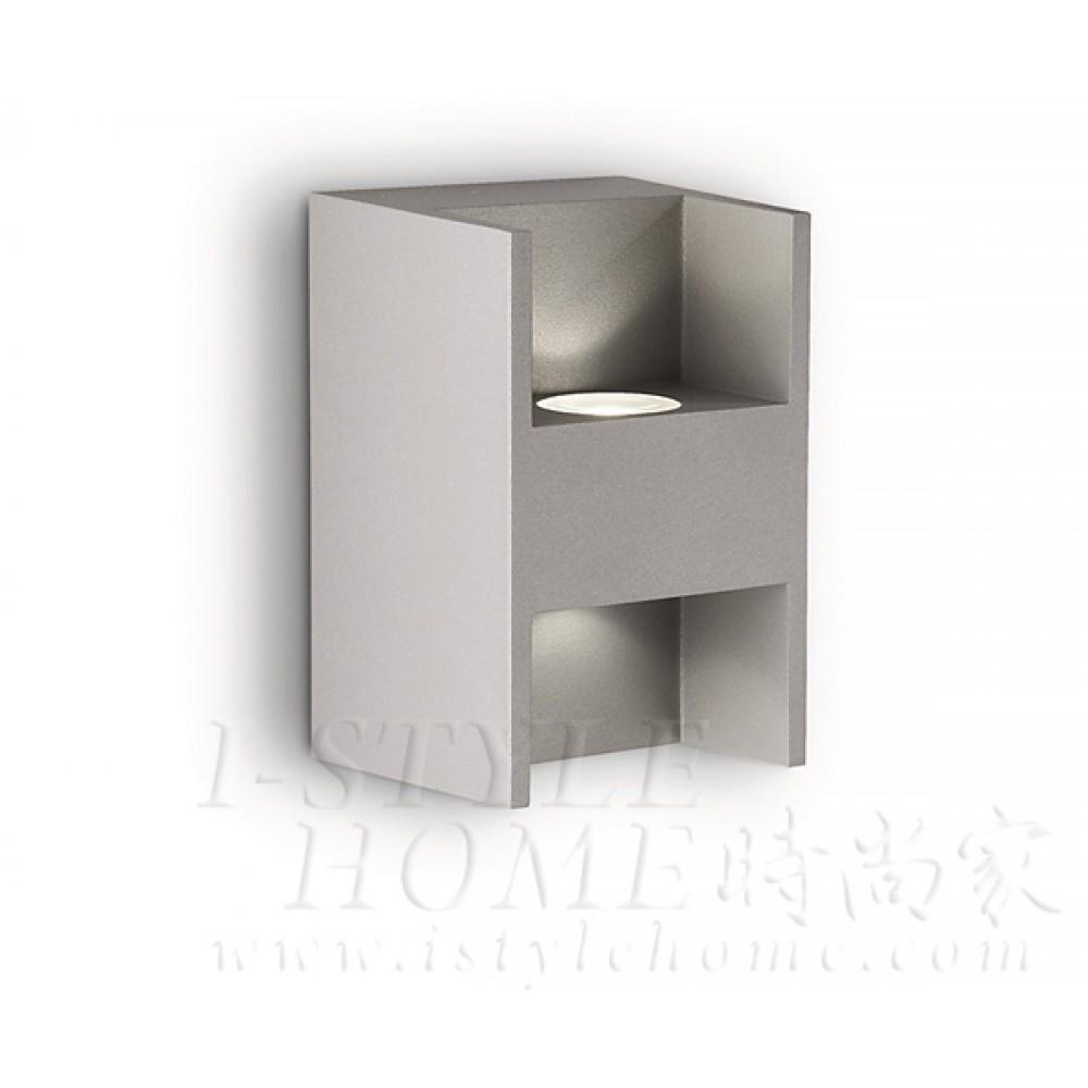 Ledino 69087 27K grey LED Wall light lig100392