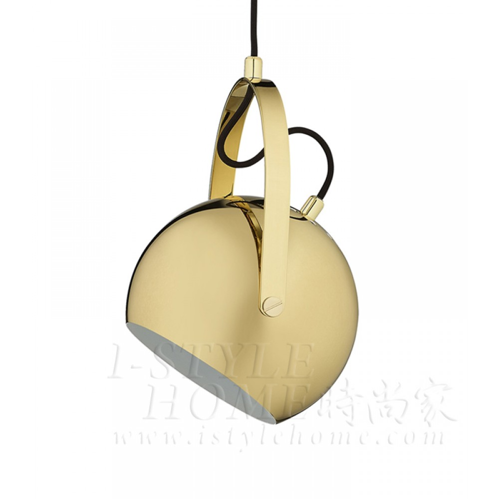 Ball with handle brass glossy lig100288