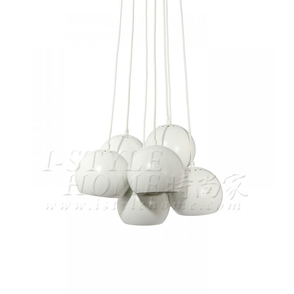 Ball multi white matt 18 cm lig100284