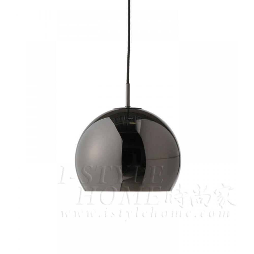 Ball ø25cm black glossy lig100291