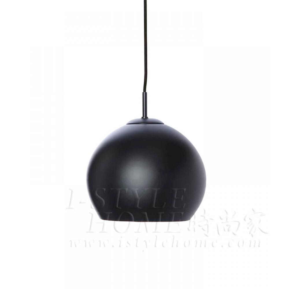Ball ø25cm black matt lig100292