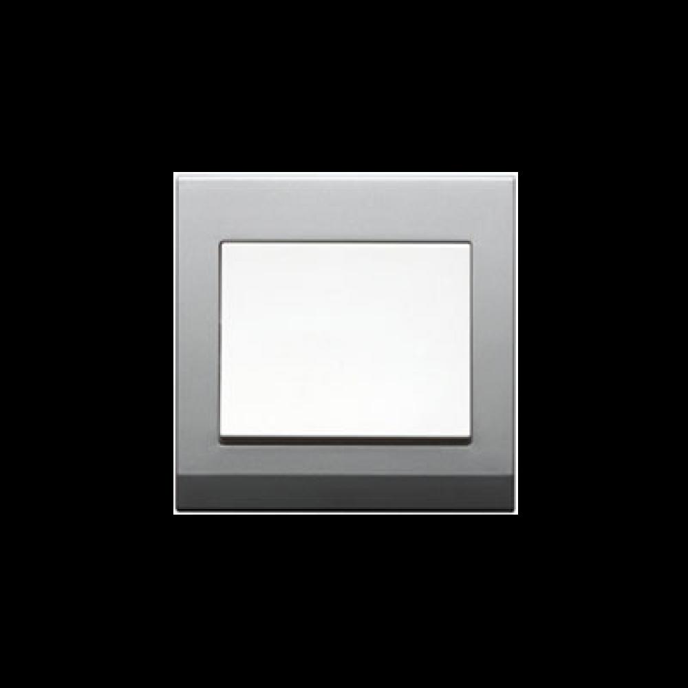 Jasmart S Silver Gray White 1 Gang Switch swi100170