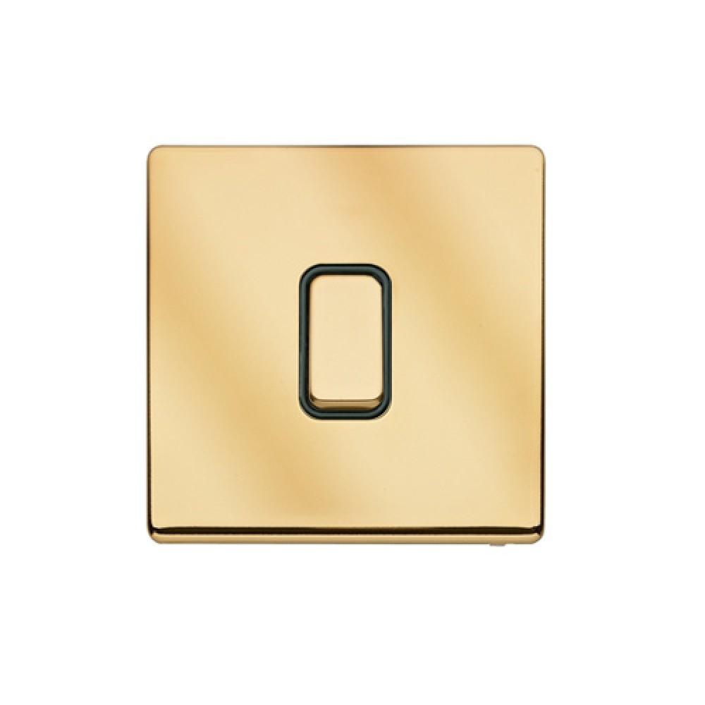 MK 雅栢 鋼面金色 回彈按鈕 10A 雙控 1位 *B