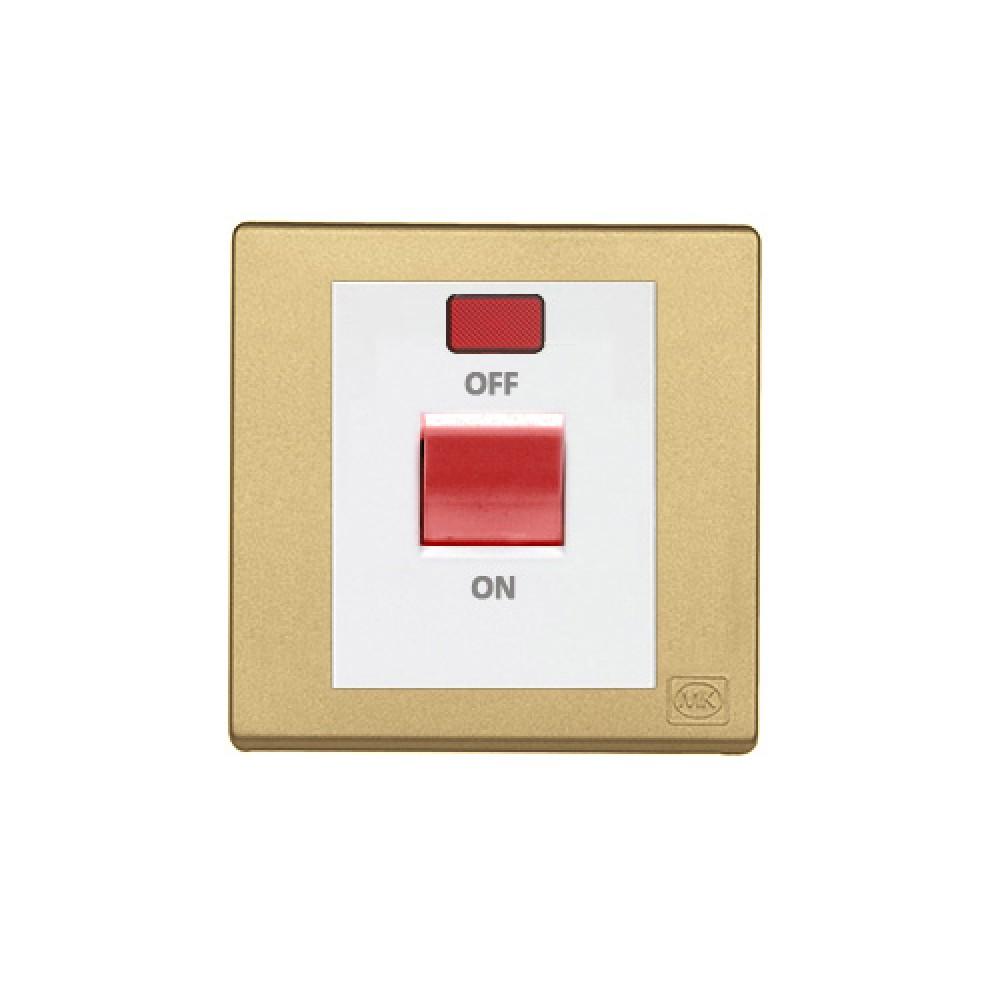 MK 雅韻 系列 香賓金 standard rocker 霓虹燈紅色開關掣 32A 1按鍵