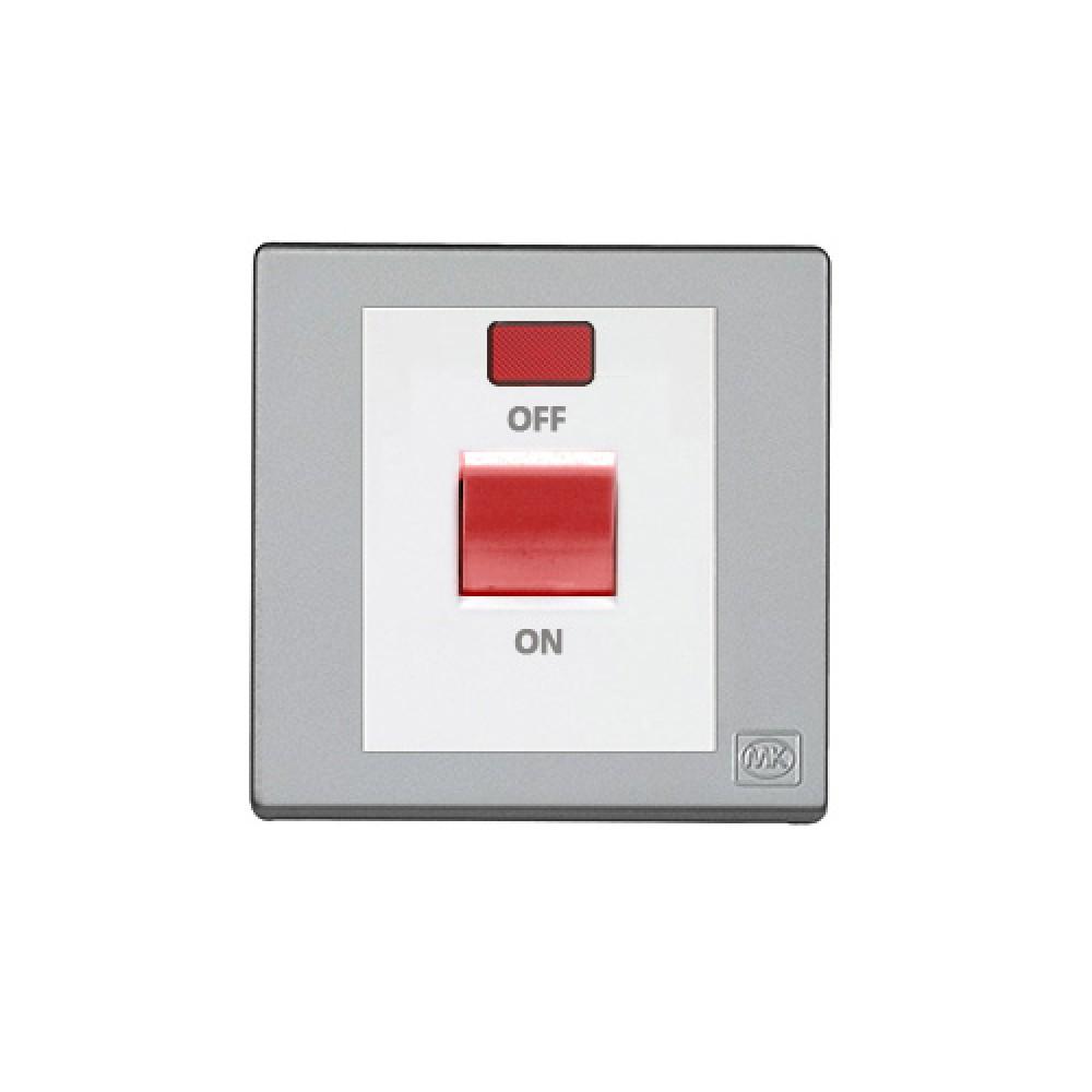MK 雅韻 系列 鈦銀 standard rocker 霓虹燈紅色開關掣 32A 1按鍵