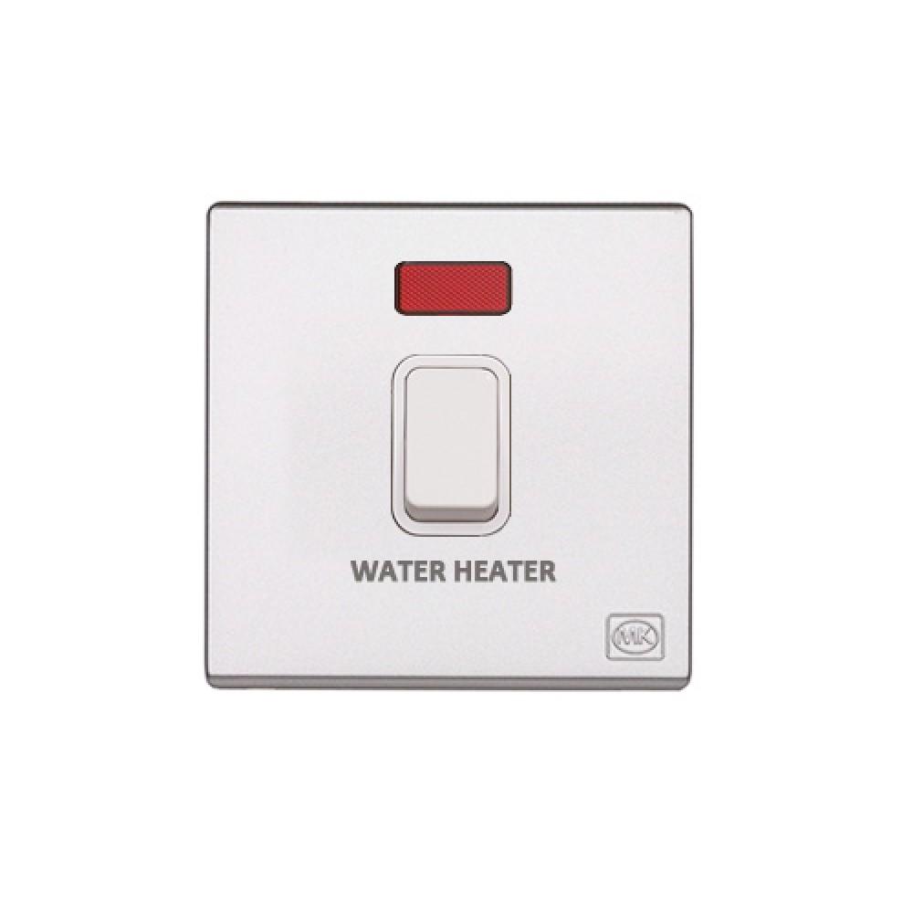 MK 雅韻 系列 白色 standard rocker 霓虹燈開關掣 20A (註 : 'WATER HEATER') 1按鍵 1路