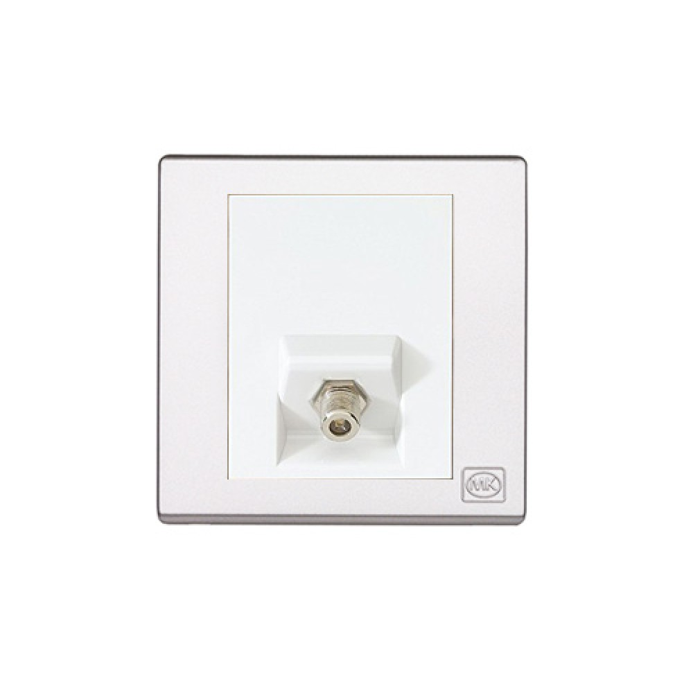 MK 雅韻 系列 白色 cable TV socket 'F' 型接駁