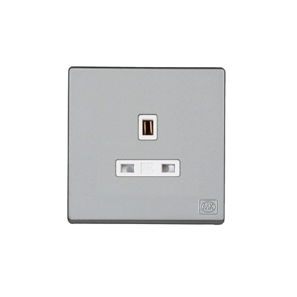 MK 雅韻 系列 鈦銀 socket outlets 插座13A 1位