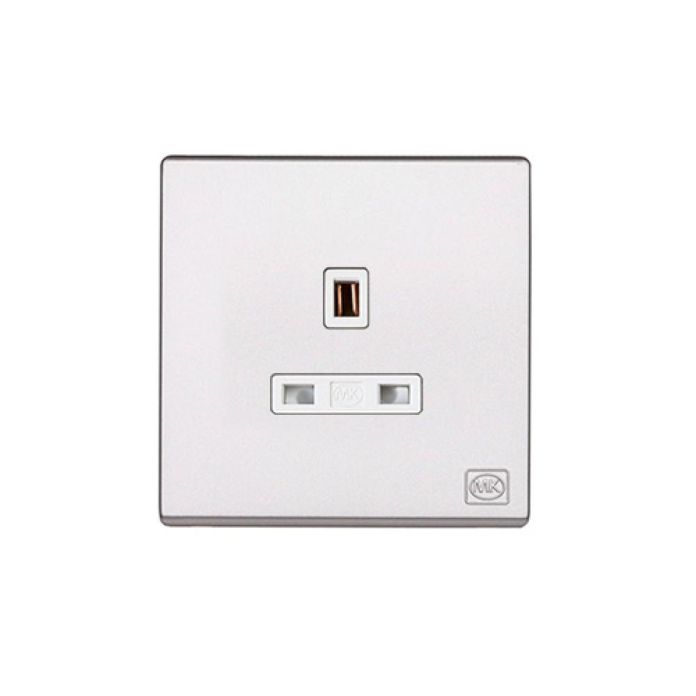 MK 雅韻 系列 白色 socket outlets 插座13A 1位