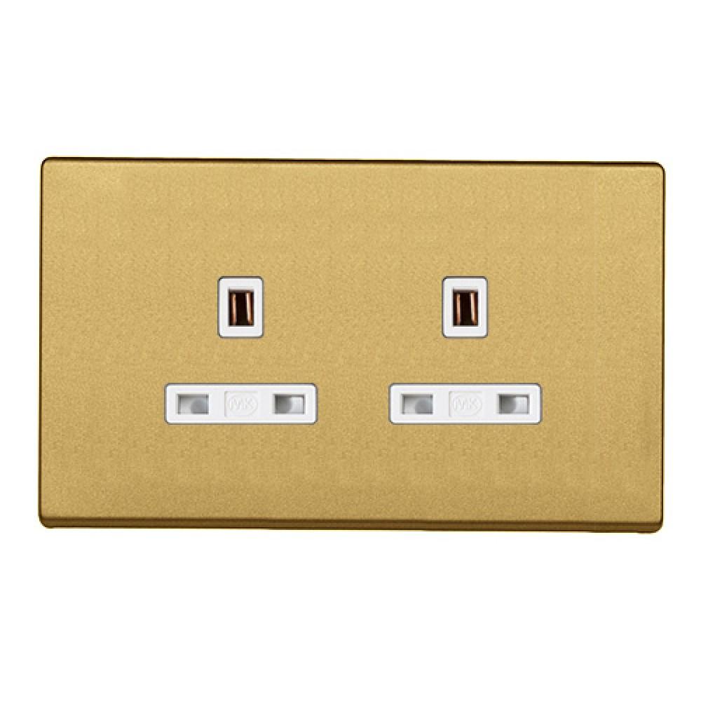 MK 雅韻 系列 香賓金 socket outlets 插座13A 2位
