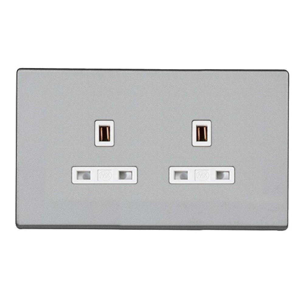 MK 雅韻 系列 鈦銀 socket outlets 插座13A 2位
