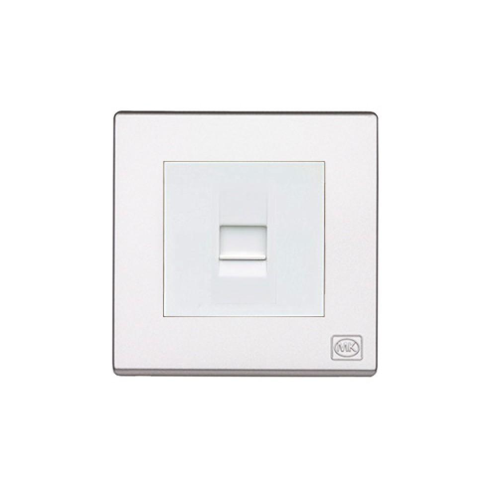 MK 雅韻 系列 白色電話插座
