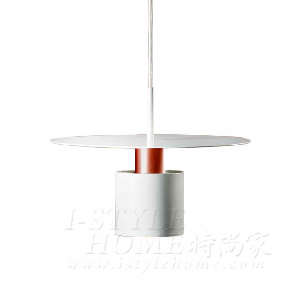 Kolorit ø20cm white matt brushed copper lig100349