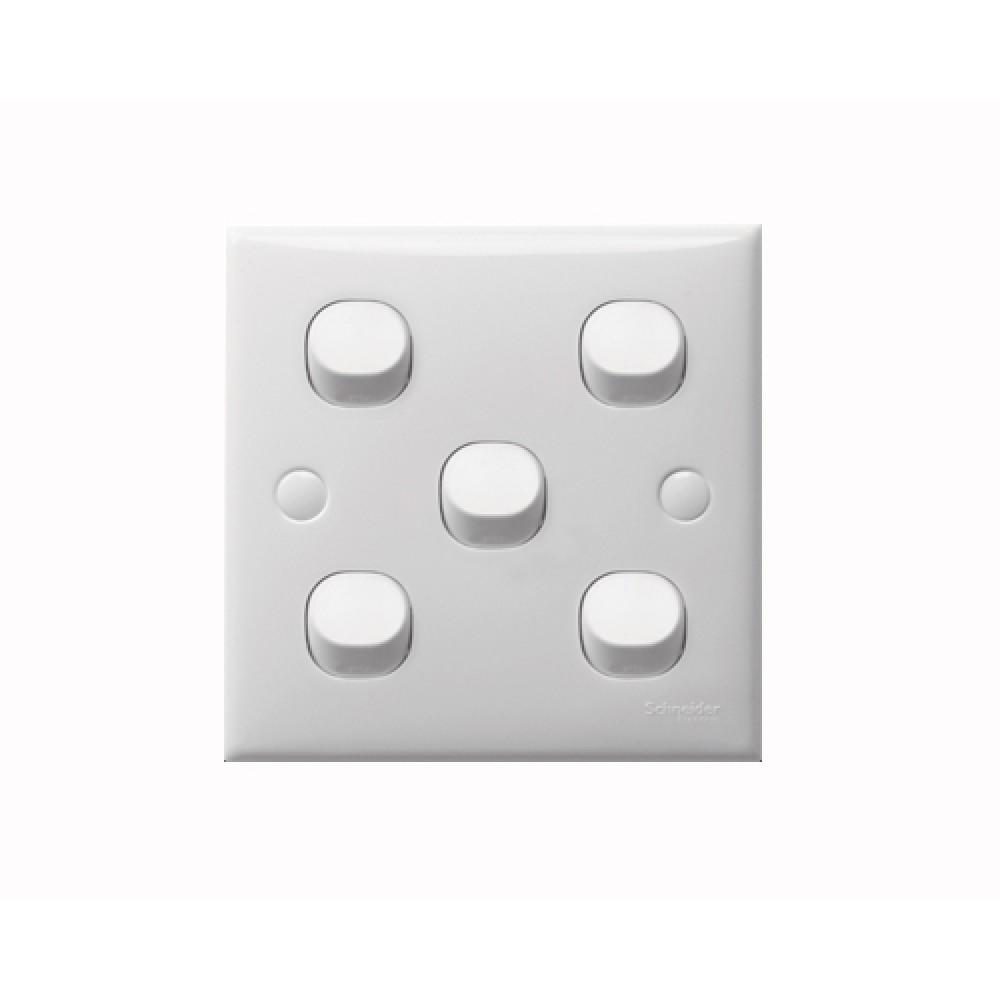 施耐德 S-Classic 白色 5位 開關掣