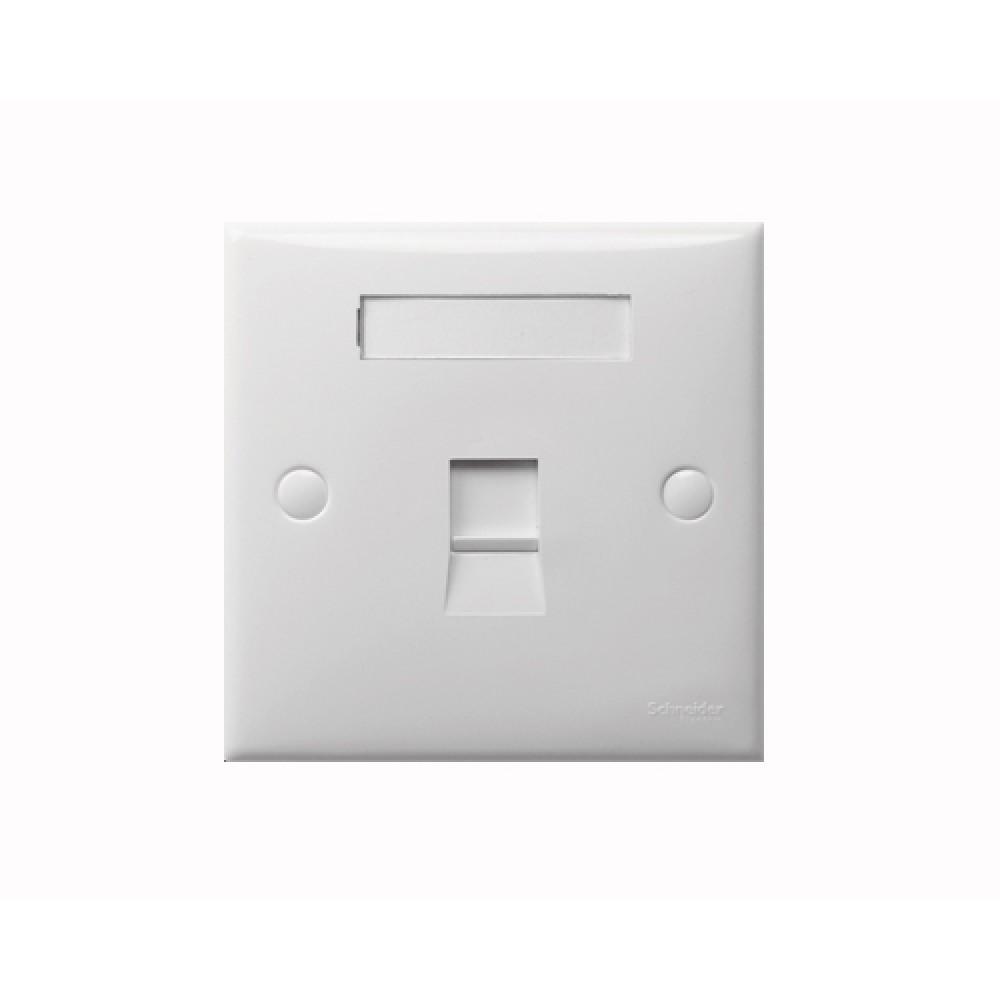 施耐德 S-Classic 白色 1位 數據插座