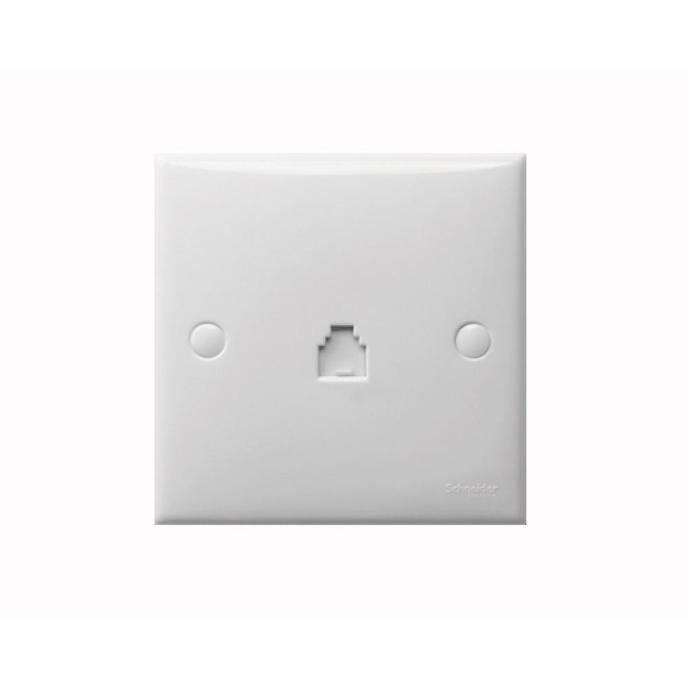施耐德 S-Classic 白色 1位 電話插座
