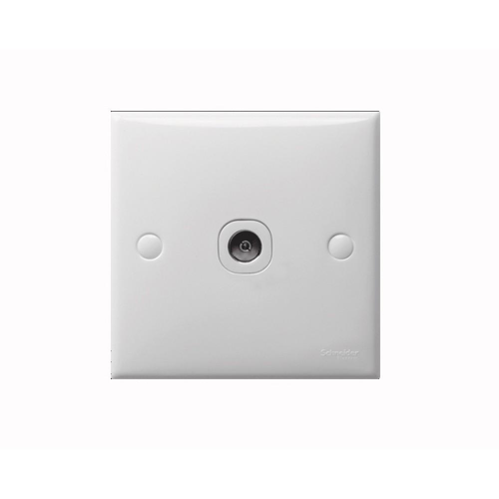 施耐德 S-Classic 白色 1位 電視插座