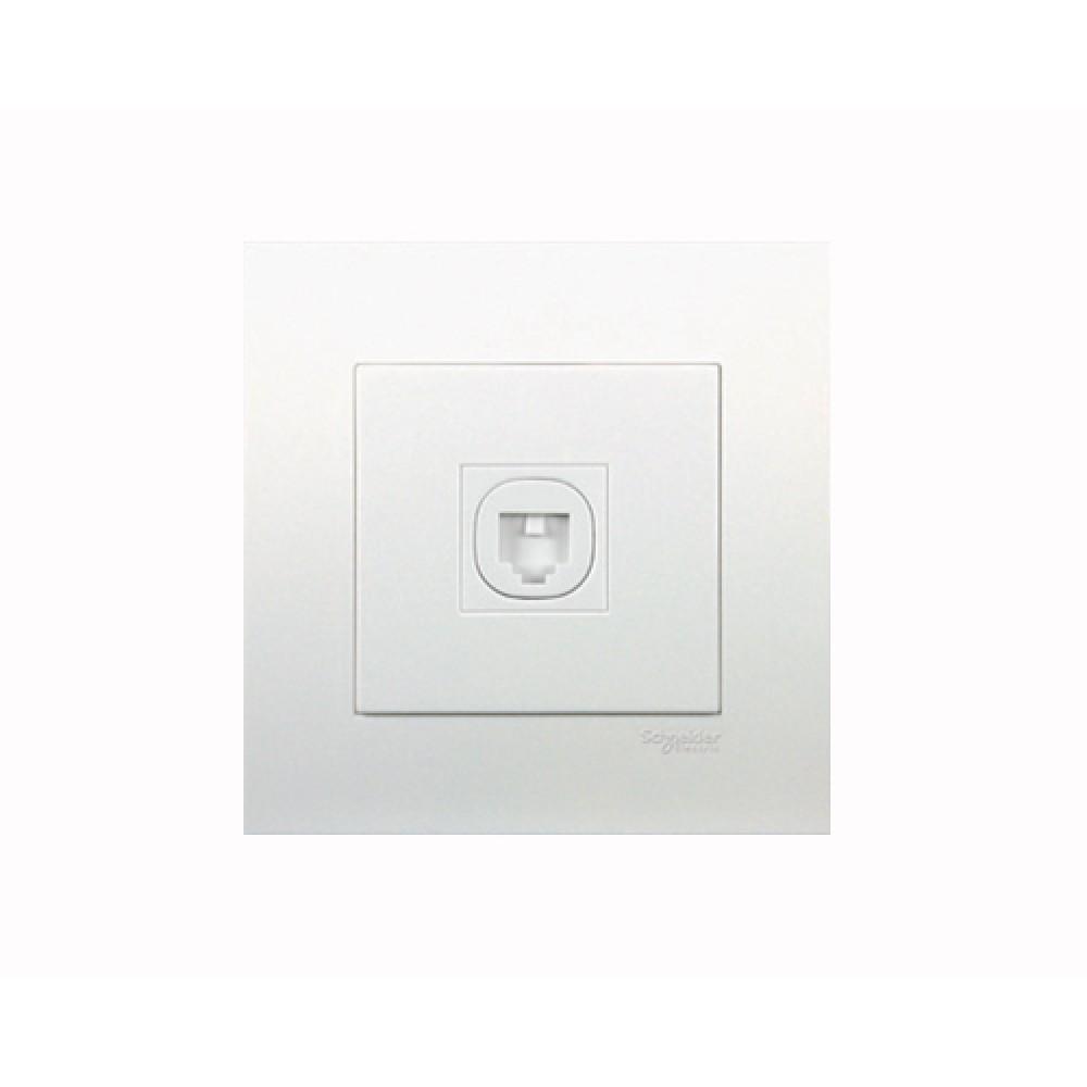 施耐德 元雅 白色 1位 電話插座